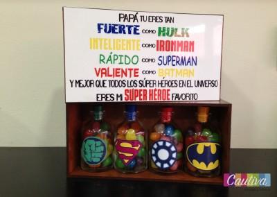 Caja super héroes